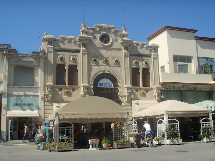 Liberty style architecture at Viareggio, Tuscany